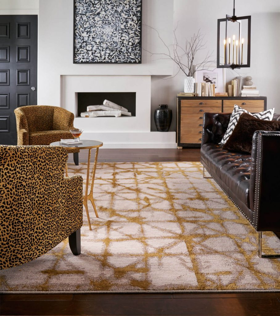 Karastan Area rug in living room | Pilot Floor Covering