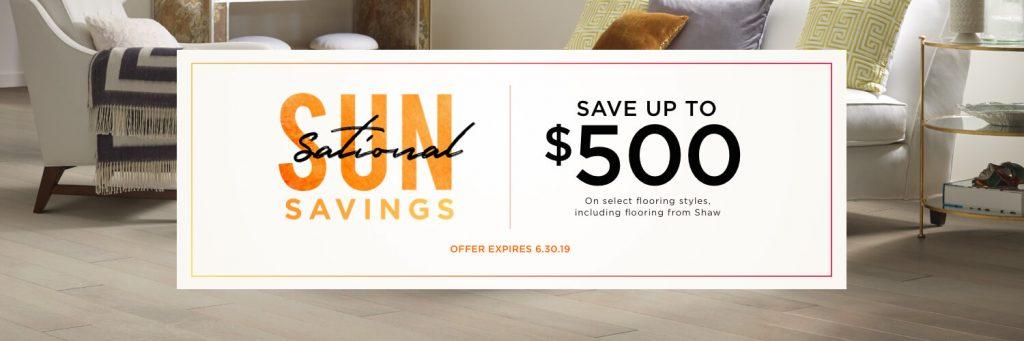 Sun sational saving sale | Pilot Floor Covering