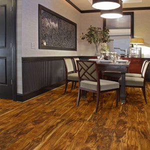 Laminate flooring as wainscoting | Pilot Floor Covering