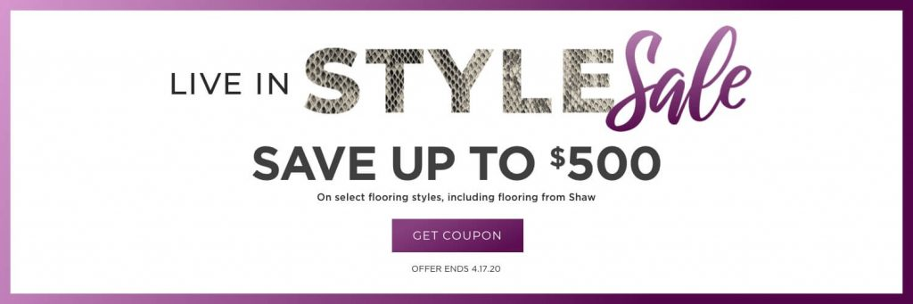 Live in Style Sale | Pilot Floor Covering
